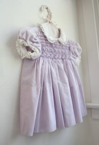 A classic Polly Flinders dress. I had one just like this, same color and all.