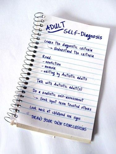 autism self diagnosis tumblr