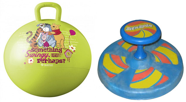 My next door neighbor had a Hippity Hop and Sit 'n Spin--neither of which my parents would buy me. I didn't especially like my neighbor but I loved her toys.