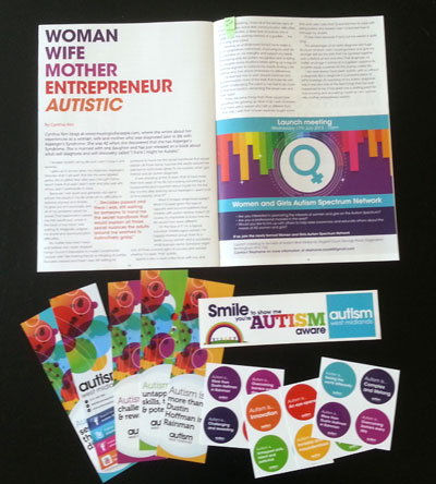 Rainbow-themed autism swag and my first print article!